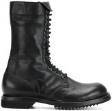 Rick Owens lace-up army boots