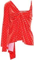 Balenciaga Polka-dot velvet top