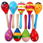 Thailand Baby Kids Sound Music Gift Toddler Rattle Musical Child Wooden Sand Hammer Toys by New