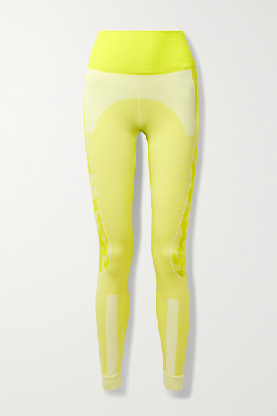 Thumbnail for your product : adidas by Stella McCartney Truepurpose Recycled Stretch-jacquard Leggings - Bright yellow