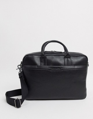 Calvin Klein laptop bag in black with pocket