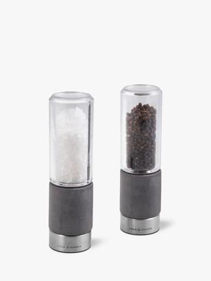 Cole & Mason Regent Concrete Salt and Pepper Mill Set, Grey