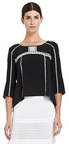 Mara Embroidered Trim Blouse
