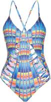 Mara Hoffman Lattice ladder cut-out swimsuit