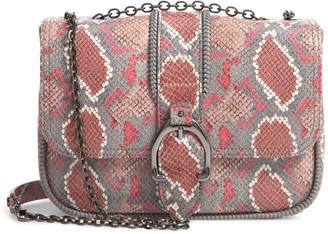 Longchamp Amazone Convertible Snake Embossed Leather Crossbody Bag
