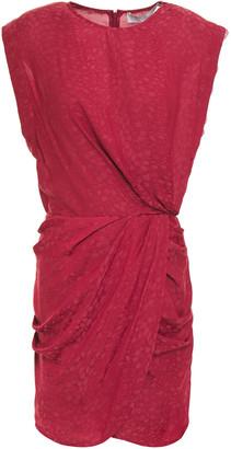 IRO Dedora Lace-trimmed Draped Satin-jacquard Mini Dress