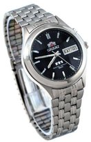 Orient #BEM5V002B Men's Facet Glass Stainless Steel Automatic Watch