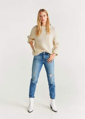 MANGO Chunky-knit sweater ecru - XS - Women