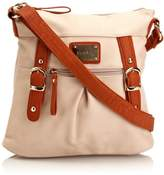 Henley Womens Amy Cross-Body Bag Cream/Orng