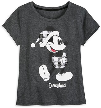 Disney Mickey Mouse Classic Holiday Plaid T-Shirt for Women Disneyland