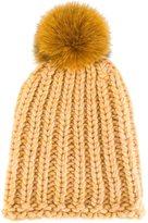 Danielapi pompom knit beanie - unisex - Polyamide/Wool/Alpaca - One Size