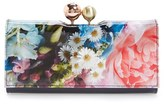 Ted Baker Women's 'Mayu' Floral Print Matinee Wallet - Blue