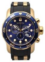 Invicta Men's 17882 Pro Diver Chronograph Quartz Silicone Band Watch - Black/Gold