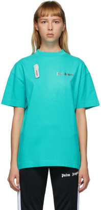 Palm Angels Blue New Basic T-Shirt