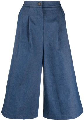 Societe Anonyme High-Waisted Wide-Leg Culottes