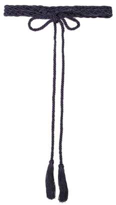 Thierry Colson Braided Rope Belt - Womens - Navy