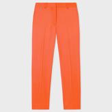 Paul Smith Women's Slim-Fit Orange Wool Trousers