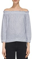 Whistles Striped Off-The-Shoulder Top