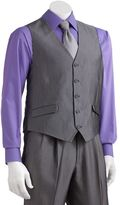 Men's Steve Harvey Striped Gray Suit Vest