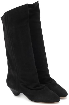 Isabel Marant Dathy's slouchy suede boots