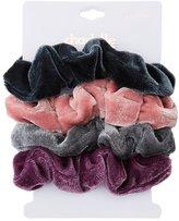 Charlotte Russe Velvet Hair Scrunchies - 4 Pack