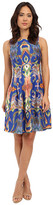 Christin Michaels Odette Sleeveless Flare Dress