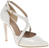 ASOS SIENNA Leather Point Court Shoes with Cross Strap