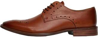 Onfire Mens Leather Shoes With Toe Punch Detail Tan