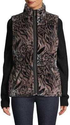 Garfield & Marks Faux-Fur Reversible Zip Vest