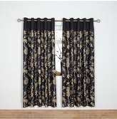 Laurence Llewellyn Bowen Royal Rose Garden Lined Eyelet Curtains