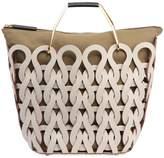 Marni Leather & Canvas Basket Tote Bag