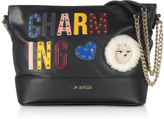 Love Moschino Black Charming Eco- Leather Shoulder Bag