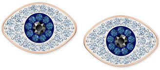 Swarovski Rose Gold-Tone Crystal Evil-Eye Stud Earrings