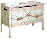 The Well Appointed House Teamson Design Child's Crackled Rose Toy Chest