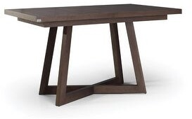 MaximaHouse PARISH Wood Top Dinning Table with extension