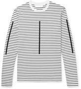 Neil Barrett - Printed Striped Cotton-Jersey T-Shirt