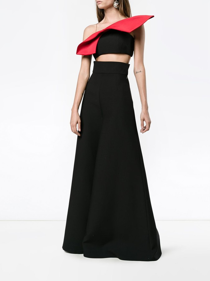 Vika Gazinskaya Sleeveless Bow Crop Top