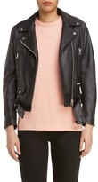 Acne Studios Women's Mock Core Leather Moto Jacket