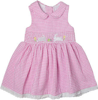 Good Lad Girls' Casual Dresses PINK - Pink Bunny Smocked A-Line Dress - Toddler & Girls