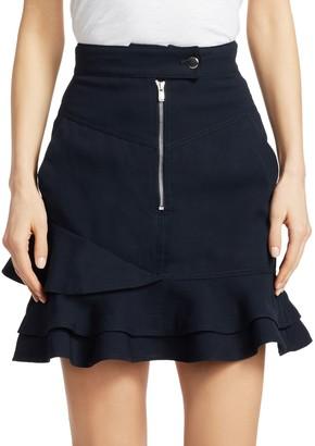 Derek Lam Ruffle-Hem Mini Skirt