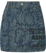 Kenzo Printed Denim Mini Skirt