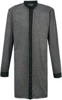 Unconditional contrast long funnel neck shirt - men - Cotton - XS