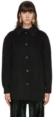 Acne Studios Black Wool Over Shirt Jacket