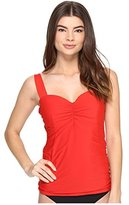 Athena Women's Cabana Solids Chantele Molded Soft Cup Underwire Bandini Tankini