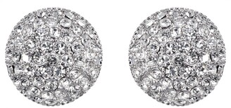 Nina Small Pave Button Earrings