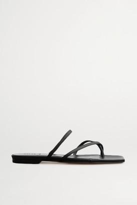 AEYDĒ Marina Leather Slides