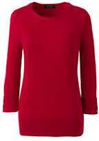 Classic Women's Plus Size Supima Cotton 3/4 Sleeve Sweater-Rich Sapphire