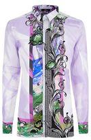 Versace Silk Lilly Baroque Shirt