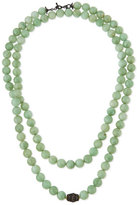 Armenta Old World Midnight Green Moonstone Bead Necklace with Diamonds