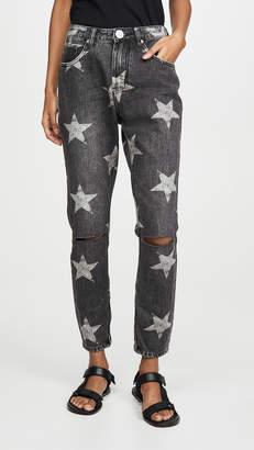 One Teaspoon Camden Star Freebirds High Waist Skinny Jeans